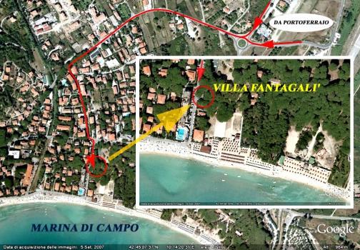 posizione Villa Fantagalì