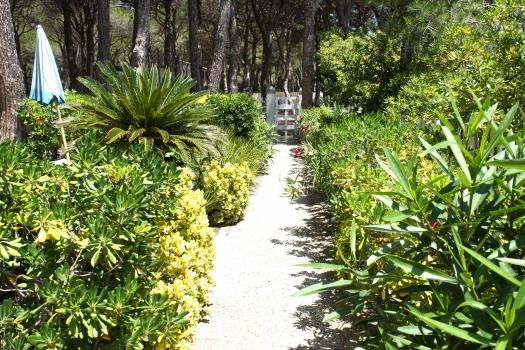 Villa Fantagalì vialetto davanti all'app. 503 e 504