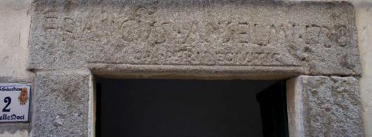 particolare dell'iscrizione - Anselmi 1738