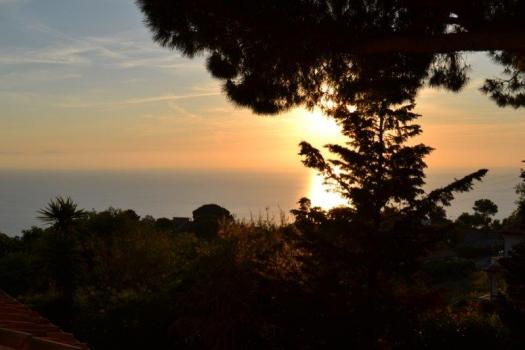 tramonto verso la Corsica