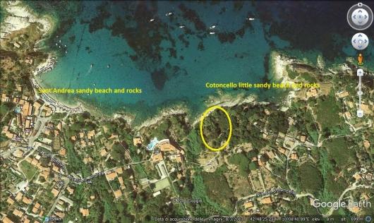 satellitare Villa Eva al Cotoncello posizione