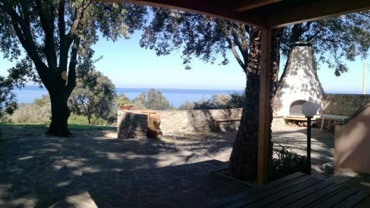 Casa Egle terrazzo con vista mare