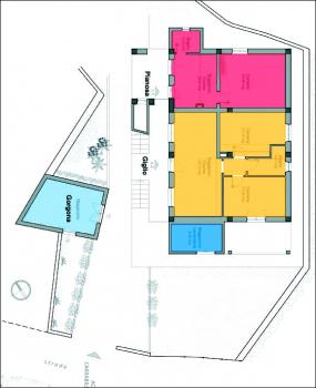 IL QUARTIERE app. GIGLIO (giallo) e PIANOSA (rosso), lavanderia (blu)