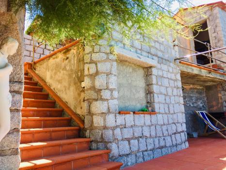 terrazzo superiore e inferiore-scala di collegamento