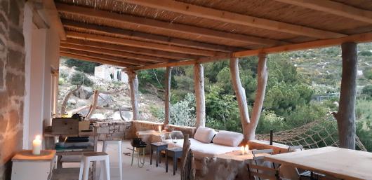Casa dei Gatti terrazzo con vista mare