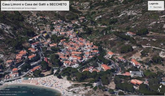 CASA LIMONI a Seccheto foto satellitare google earth