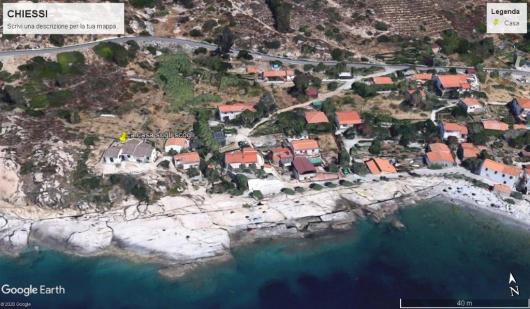 foto satellite Chiessi con La Casa Sugli Scogli