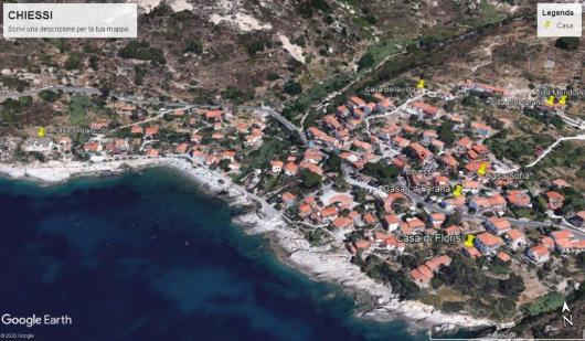 foto satellite Chiessi con tutte le case