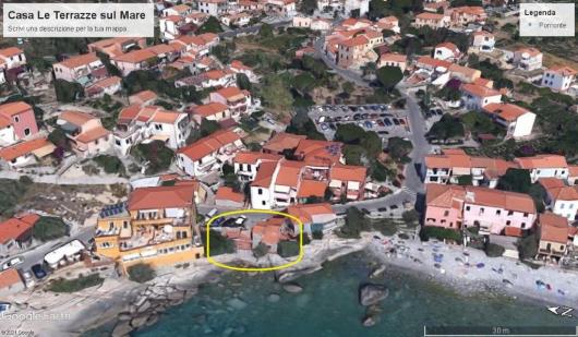 foto satellitare Casa Le Terrazze a Pomonte a